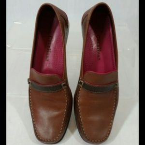 Cole Haan Womens Brown Leather Loafers Shoes